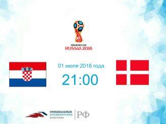 Хорватия - Дания прогноз и коэффициенты на матч 01 июля 2018