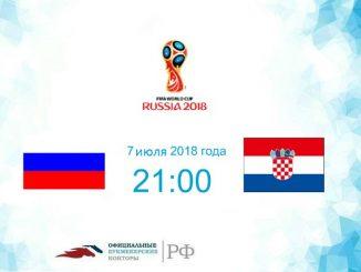 Россия - Хорватия прогноз и коэффициенты на матч 07 июля 2018