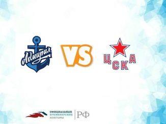 Прогноз на матч Адмирал - ЦСКА 17 сентября 2018 года